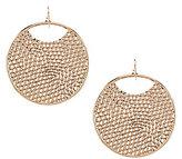 Natasha Accessories Pebble-Filled Hoop Earrings