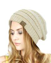 C&C Trendy Warm Chunky Soft Stretch Cable Knit Beanie Skully
