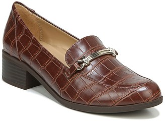 Naturalizer Naples Croc Embossed Bit Loafer Pump - Wide Width Available