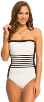 DKNY A Lister Bandeau One Piece Swimsuit 8142294