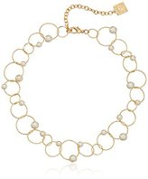 """Anne Klein Pearl Manor"""" Gold-Tone/Blanc All Around Pearl Necklace, 16"""" + 3"""" Extender"""