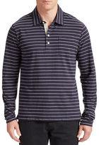 Billy Reid Rib Stripe Polo Shirt