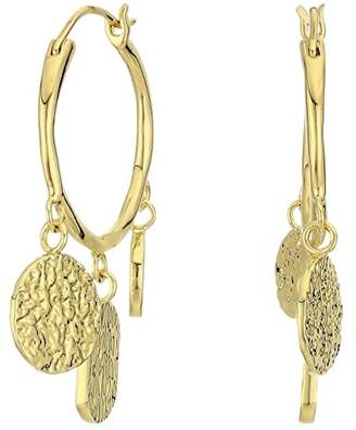 Gorjana Banks Coin Hoops Earrings (Gold) Earring