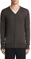 Allsaints Allsaints Mode Merino Button Up Cardigan, Military Brown