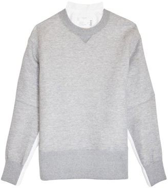 Sacai Sponge Sweatshirt in Light Grey