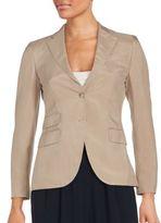 Akris Long Sleeve Front Button Blazer