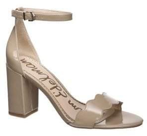 Sam Edelman Odila Patent Leather Block-Heel Sandals