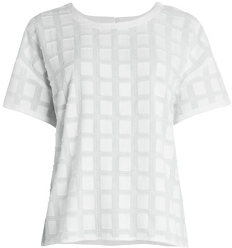 Eileen Fisher Fil Coupe Organic Cotton Top
