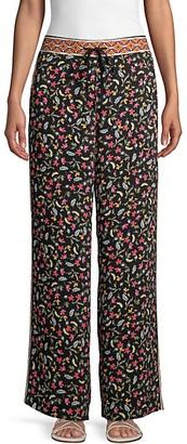 Laundry by Shelli Segal Printed Drawstring Pants