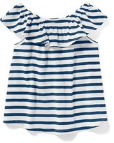Old Navy Striped Off-the-Shoulder Swing Top for Toddler Girls