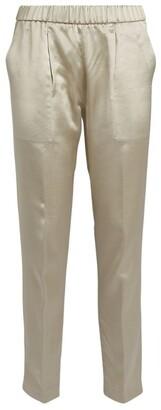 Fabiana Filippi Satin Straight-Leg Trousers