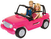 Mattel Barbie Beach Cruiser includes Barbie and Ken