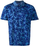 Versace Baroque print polo shirt - men - Cotton - L