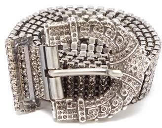 Etro Crystal Embellished Belt - Womens - Silver