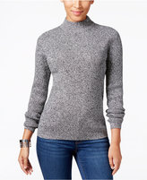 Karen Scott Marled Mock-Neck Sweater, Only at Macy's