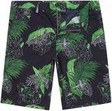 Hugo Boss Liem2 Slim Fit Floral Print Shorts