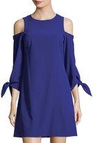 Eliza J Cold-Shoulder Shift Dress