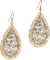Jardin Tear Drop Earrings With Crystal.