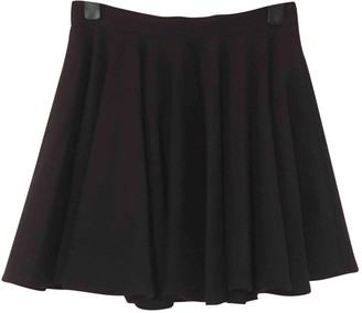 Surface to Air Navy Wool Skirt for Women
