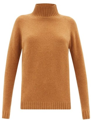 The Elder Statesman Highland High-neck Cashmere Sweater - Camel