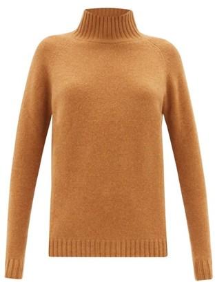 The Elder Statesman Highland High-neck Cashmere Sweater - Womens - Camel