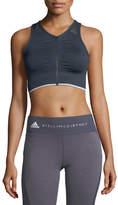 adidas by Stella McCartney Seamless Light-Support Zip-Front Performance Sports Bra