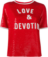 Ashish 'Love & Devotion' sequin T-shirt - women - Silk - S