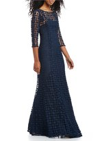 Kay Unger Lace Mermaid Gown