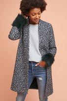 Helene Berman Rania Spotted Faux Fur Cuff Coat