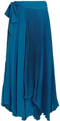 AMUR Delia Pleated Wrap Skirt