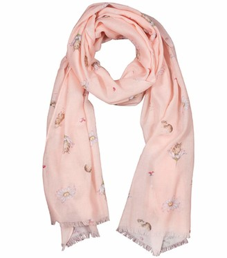 Wrendale Designs Oops-a-Daisy' Mouse Pink Scarf