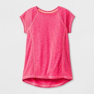 Champion Girls' Novelty Tech T-Shirt Razzle Pink Heather