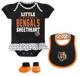 NFL Cincinnati Bengals Size 12M 3-Piece Creeper, Bib, and Bootie Set