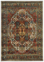 """Newcastle Home Casa Old World Persian Red and Multi Rug, 1'10""""x3'0"""""""