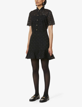 Sandro Felia ruffle-trimmed lace dress