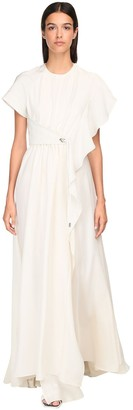 Sportmax Draped Silk Long Dress