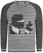 Karl Lagerfeld Girls Black & White Knitted Sweater