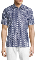 Toscano Short Sleeve Floral Print Sportshirt