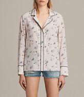 AllSaints Leon Quilla Silk Shirt