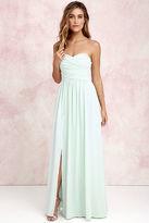 LuLu*s Moonlight Serenade Mint Strapless Maxi Dress