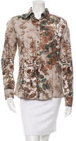 Etro Button-Up Rose Print Top