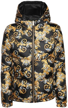 Versace Jeans Couture Printed Nylon Down Jacket