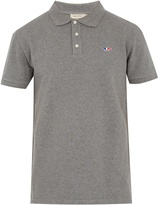 MAISON KITSUNÉ Fox-applique cotton-piqué polo shirt