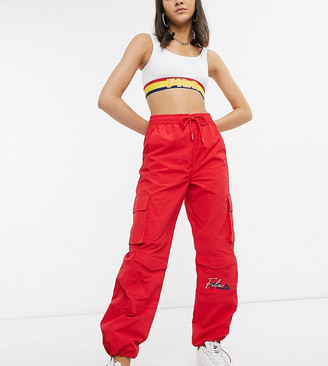 Fila cargo pants with embroidered logo and pockets