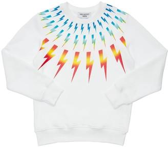 Neil Barrett Lightning Print Cotton Sweatshirt
