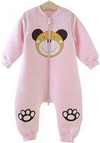 Aivtalk Baby Sleep Gown Infant Bamboo Windproof Lovely Cartoon Giraffe Sleep Bag Sleepsuit for 18-36 Month