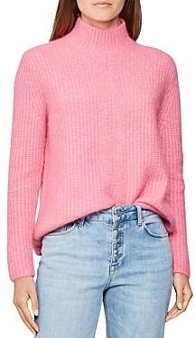 Reiss Elsie Fuzzy Mock Neck Sweater