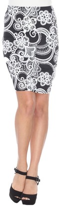 White Mark Women's Printed Pencil Skirt