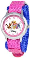 Disney Pooh and Friends Kid's Stainless Steel Time Teacher Watch- Pink Strap