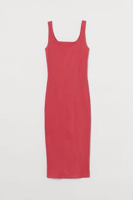 H&M Calf-length bodycon dress